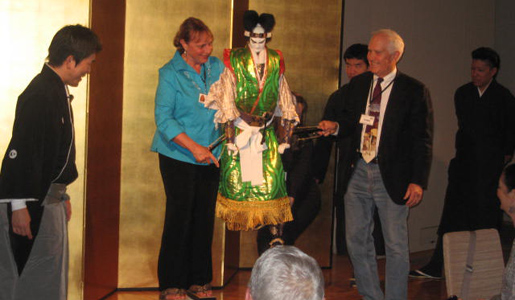 Smithsonian Travelers try Bunraku