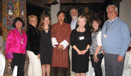 Smithsonian travelers with the Prince of Bhutan