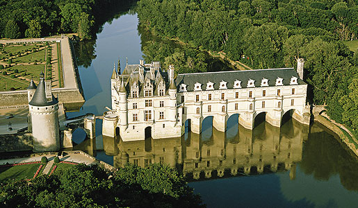 French Chateau Built Over River