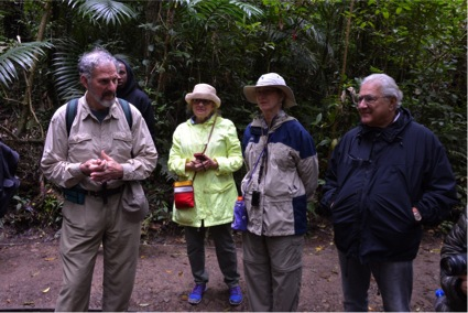 Enjoying the wonders of the cloud forest (Photo by R. Szaro)