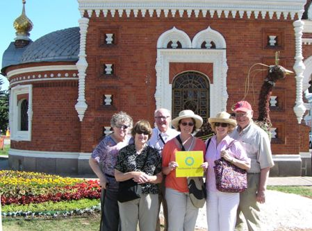 Smithsonian Travelers at the Yaroslavl Chapel of St. Alexander Nevsky. Photo: Pamela Kachurin.
