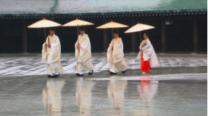 Women in traditional dress at Tokyo's Meiji Shrine. Photo: Charlene Miller